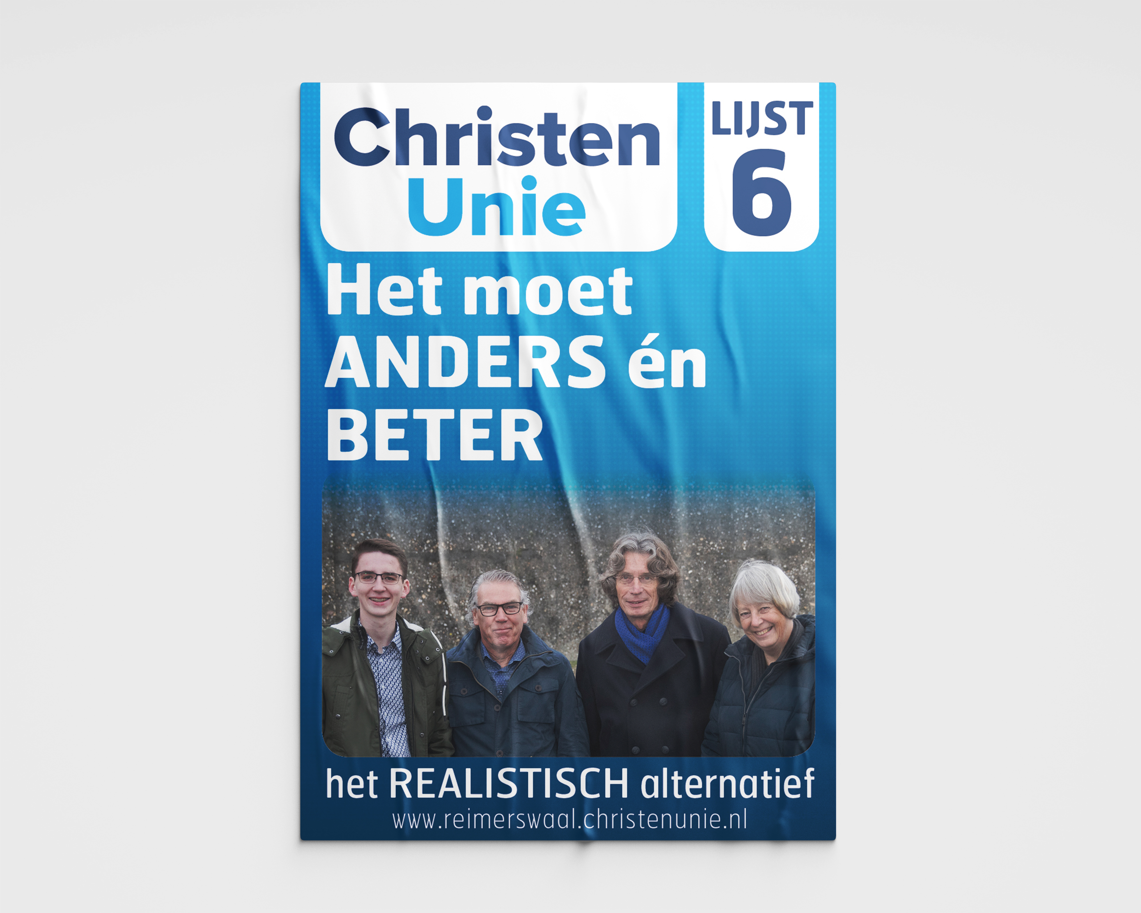 Verkiezingsposter ChristenUnie